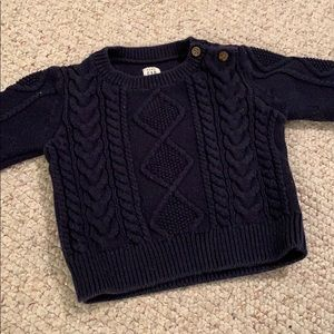 Baby Gab Navy Cable Knit Sweater